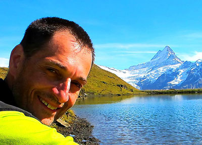 Thomas Planzer in Bernese Mountains in Switzerland